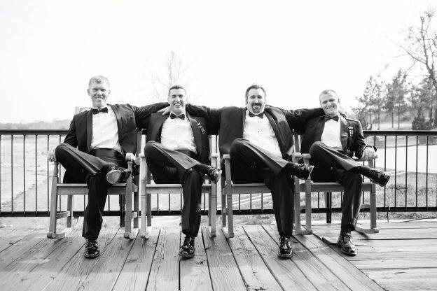 b&w groomsmen