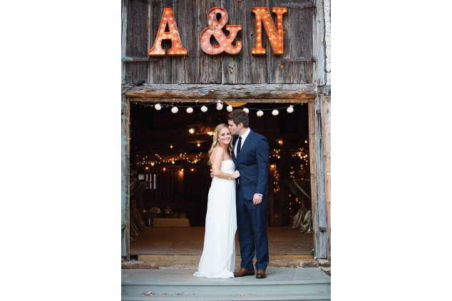 a & n bride and groom