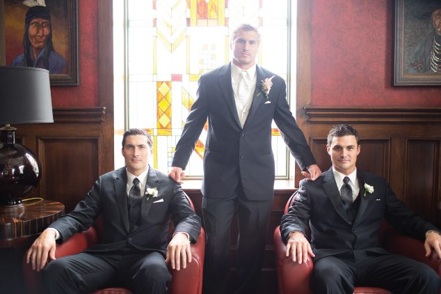 man with groomsmen in mayo hotel