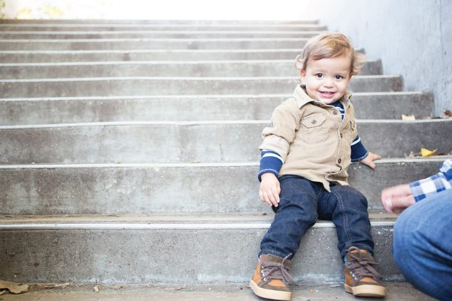 toddler in beige jacket