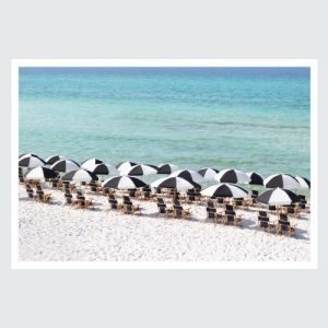 rows of beach chairs