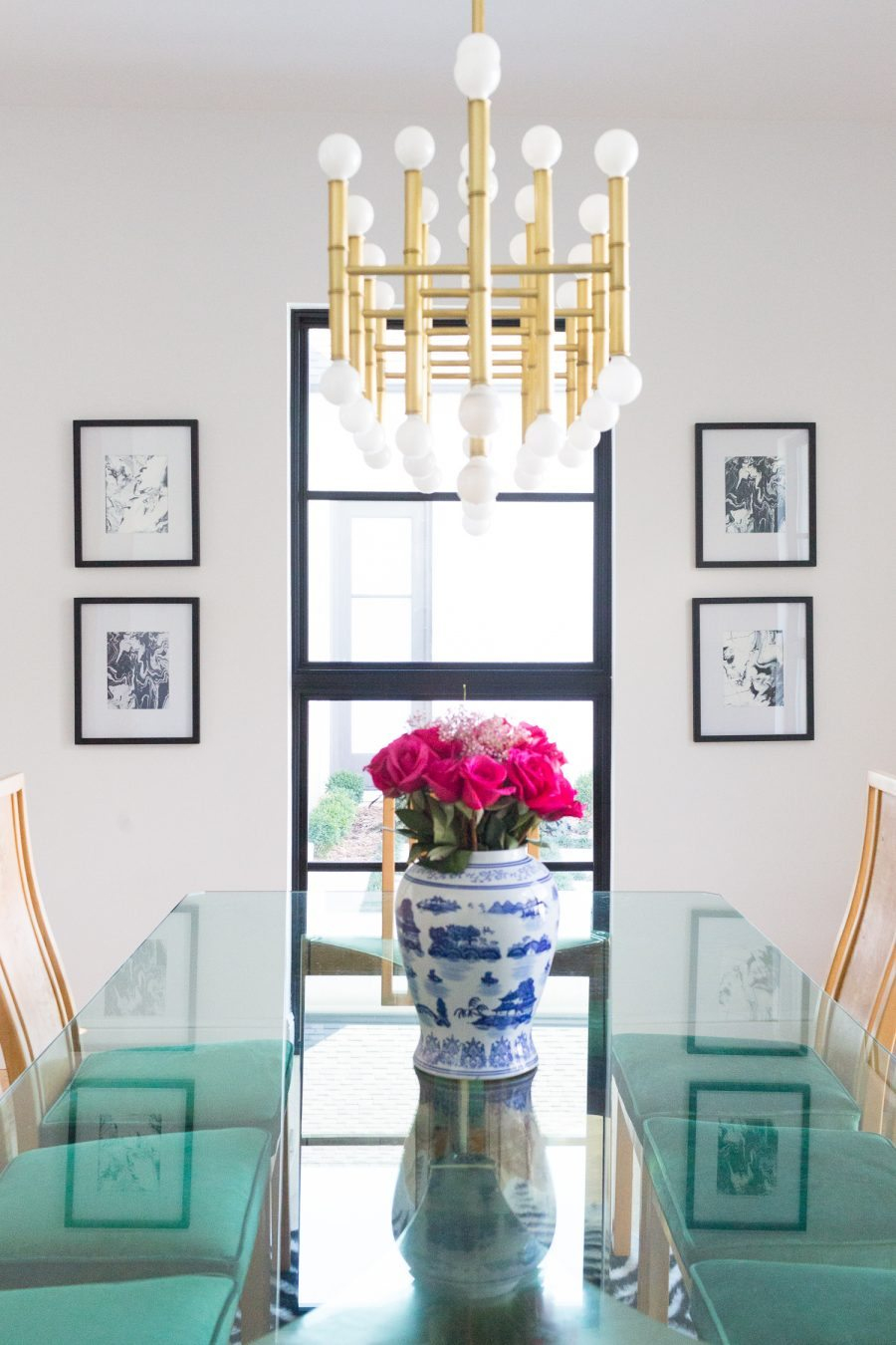 Brass Jonathan Adler Chandelier Via Anthropologie Dining Lighting