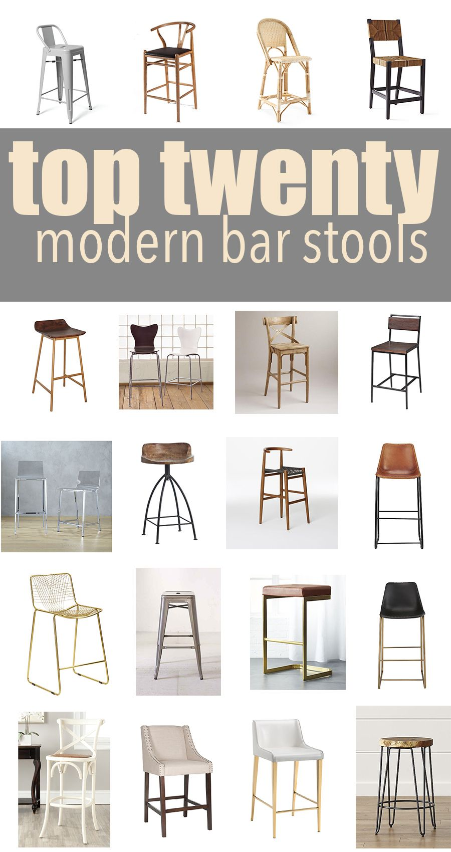 Top 20 Modern Kitchen Bar Stools | CC and Mike | Lifestyle and ...
