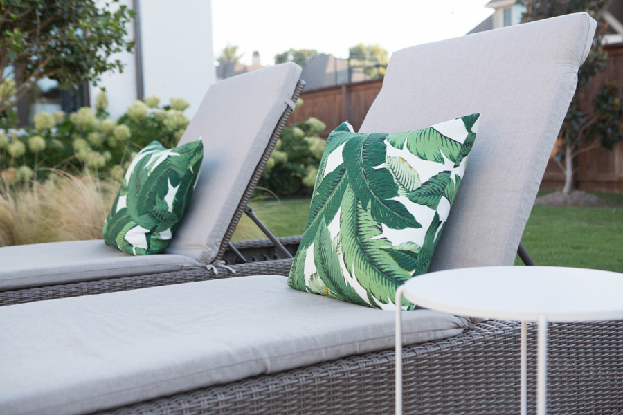 Home Decor and Fashion Memorial Day sales target wicker outdoor patio furniture outdoor pillows palm print pillows outdoor tables