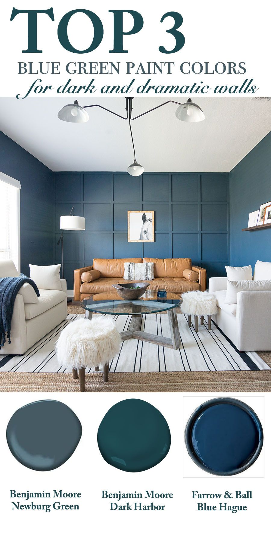 Top 3 Blue Green Paint Colors For Dark And Dramatic Walls Cc And Mike Blog