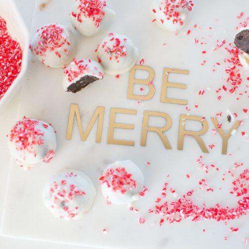 Peppermint Oreo Cake Balls Christmas Dessert
