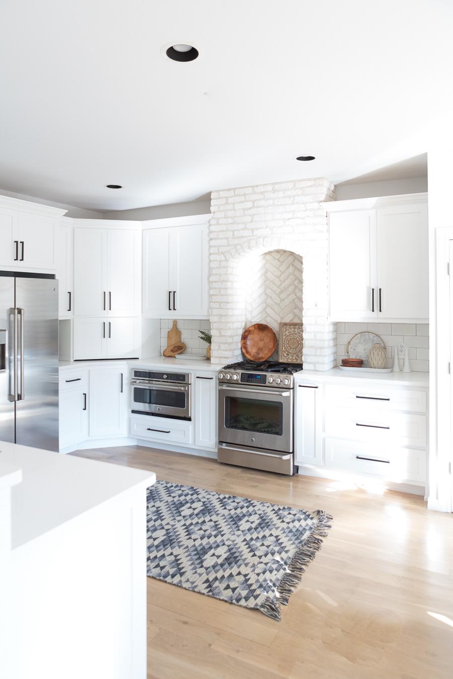 Tulsa Remodel Reveal Modern White Farmhouse Black Windows And Doors White Brick Kitchen Black Hardware 1 Cc Mike