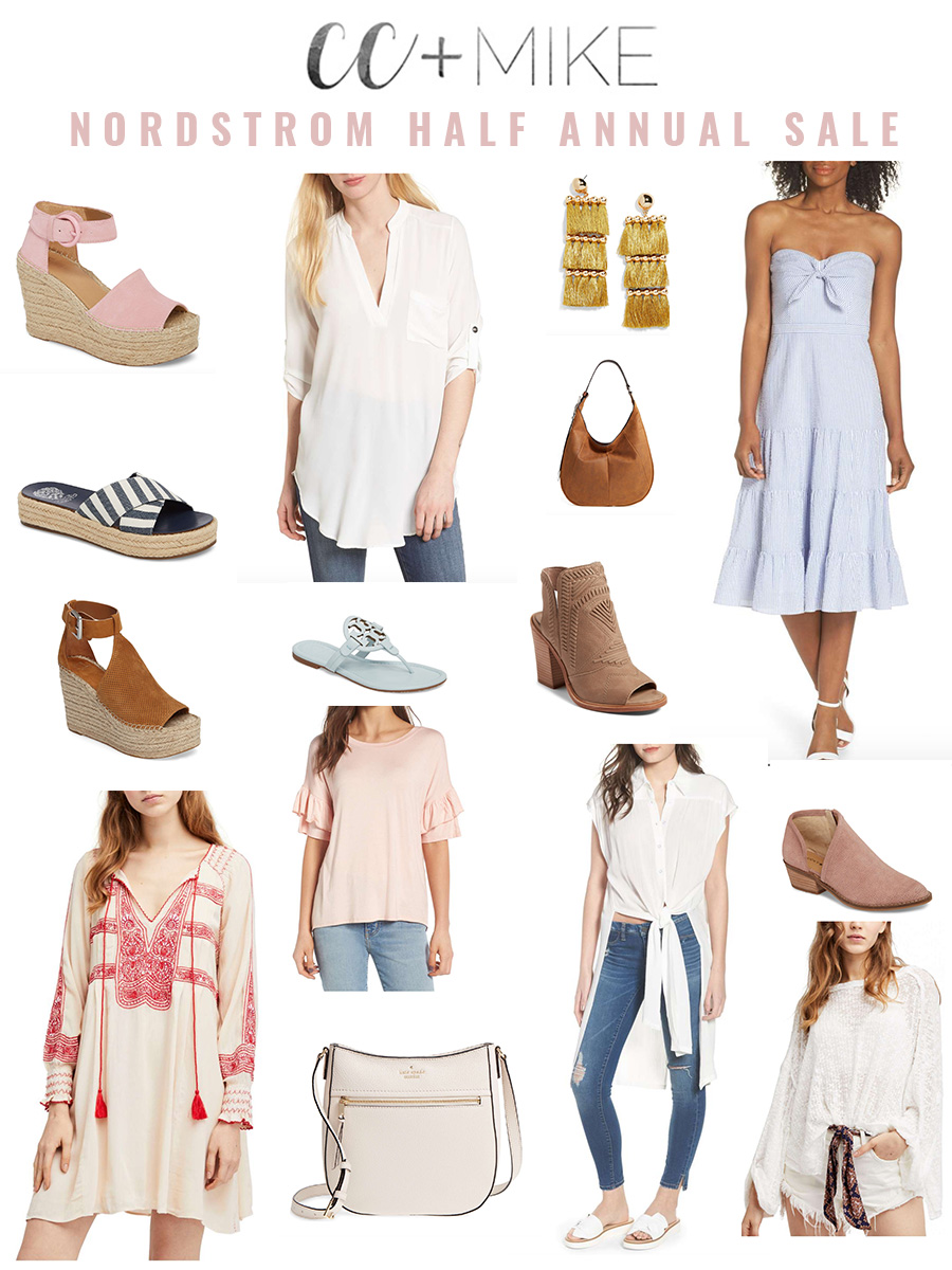 Fashion Favorites Nordstrom Half Annual Sale free people mini dress marc fisher platform espadrille bauble bar tassel earrings seersucker dress frye hobo dress tory burch flip flops