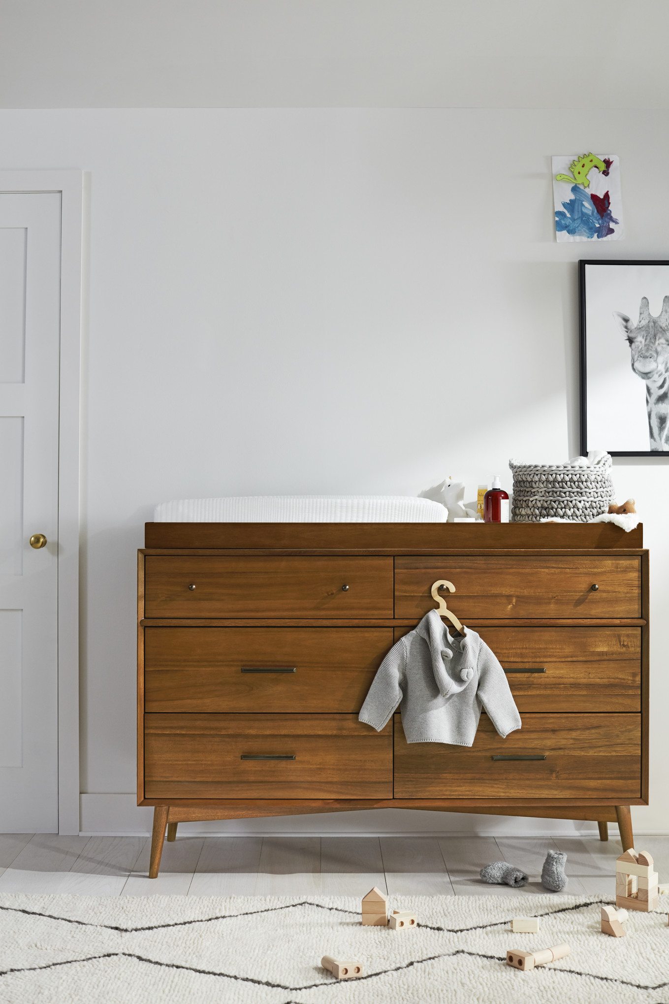 West Elm Modern Baby and Kids Furniture and Home Decor midcentury modern wood changing table