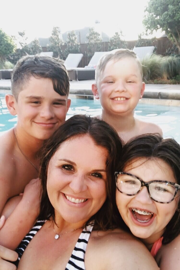motherhood is a marathon rectangle pool black and white umbrellas hot tub-2 mom blog parenting blogs mom parenting advice