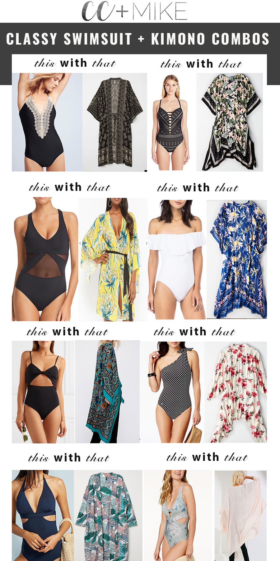 How to Combine Classy One Piece Swimsuits with Kimonos best one piece swimsuits for moms black mesh one piece swimsuits black crochet swimsuits flattering one piece swimsuits kimonos with swimsuits sexy one pieces swimsuits
