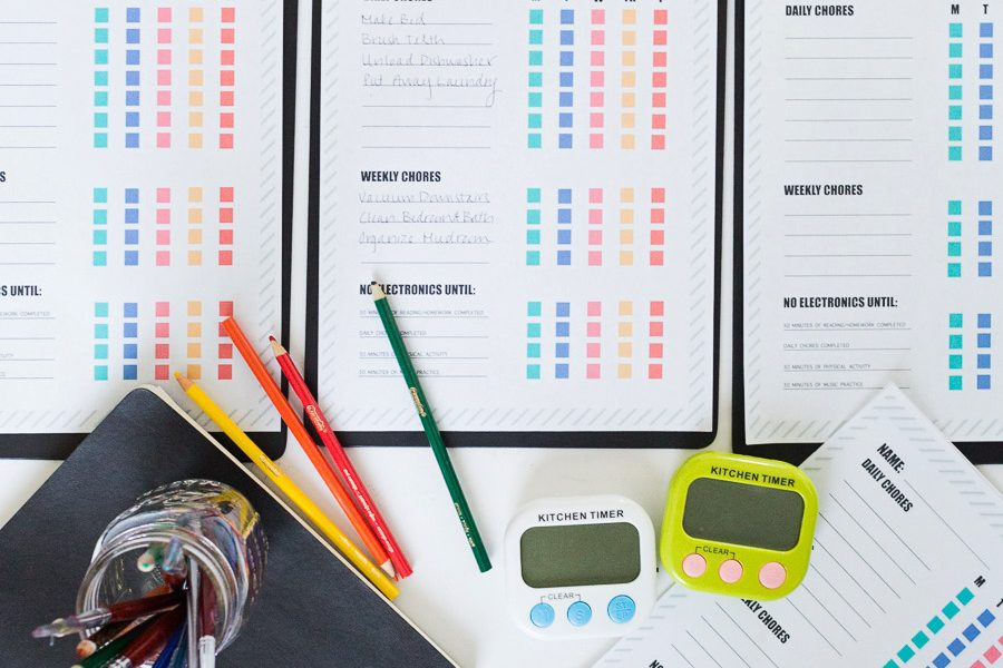 How to Limit Screen Time for Kids and Free Printable Chore Charts free kids chore charts free printables kids chore charts limiting kids on social media timers to limit kids electronic time limiting electronics parenting teens the effects of social media