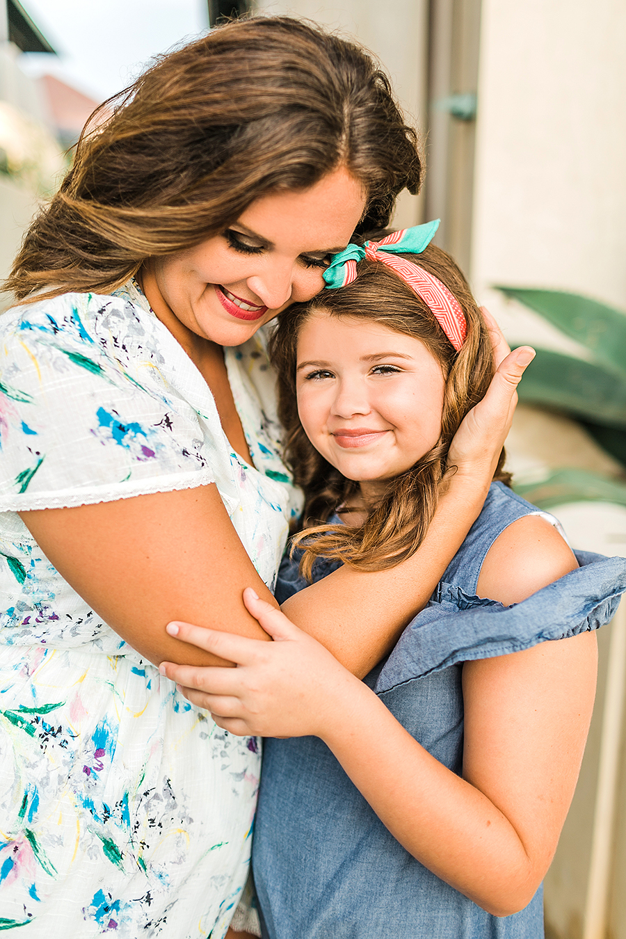 making drastic parenting choices mother daughter photos family beach photos what to wear Rosemary beach family photos floral wrap dress denim cold shoulder dress