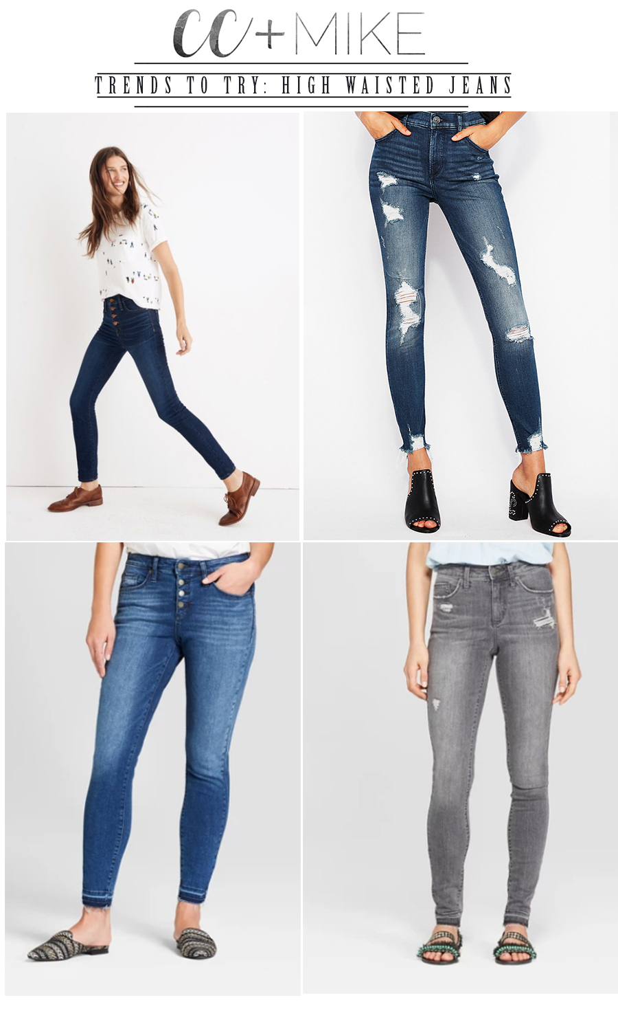 Trends to Try High Waisted Jeans