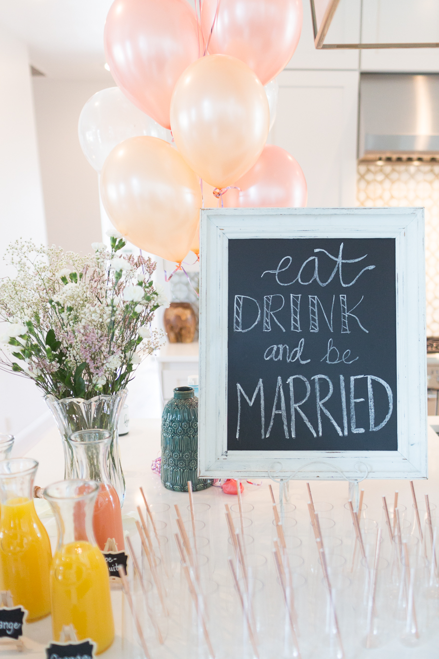 Beautiful Fall Bridal Shower Ideas fall bridal shower create your own mimosa champagne bar with an eat drink and be married sign