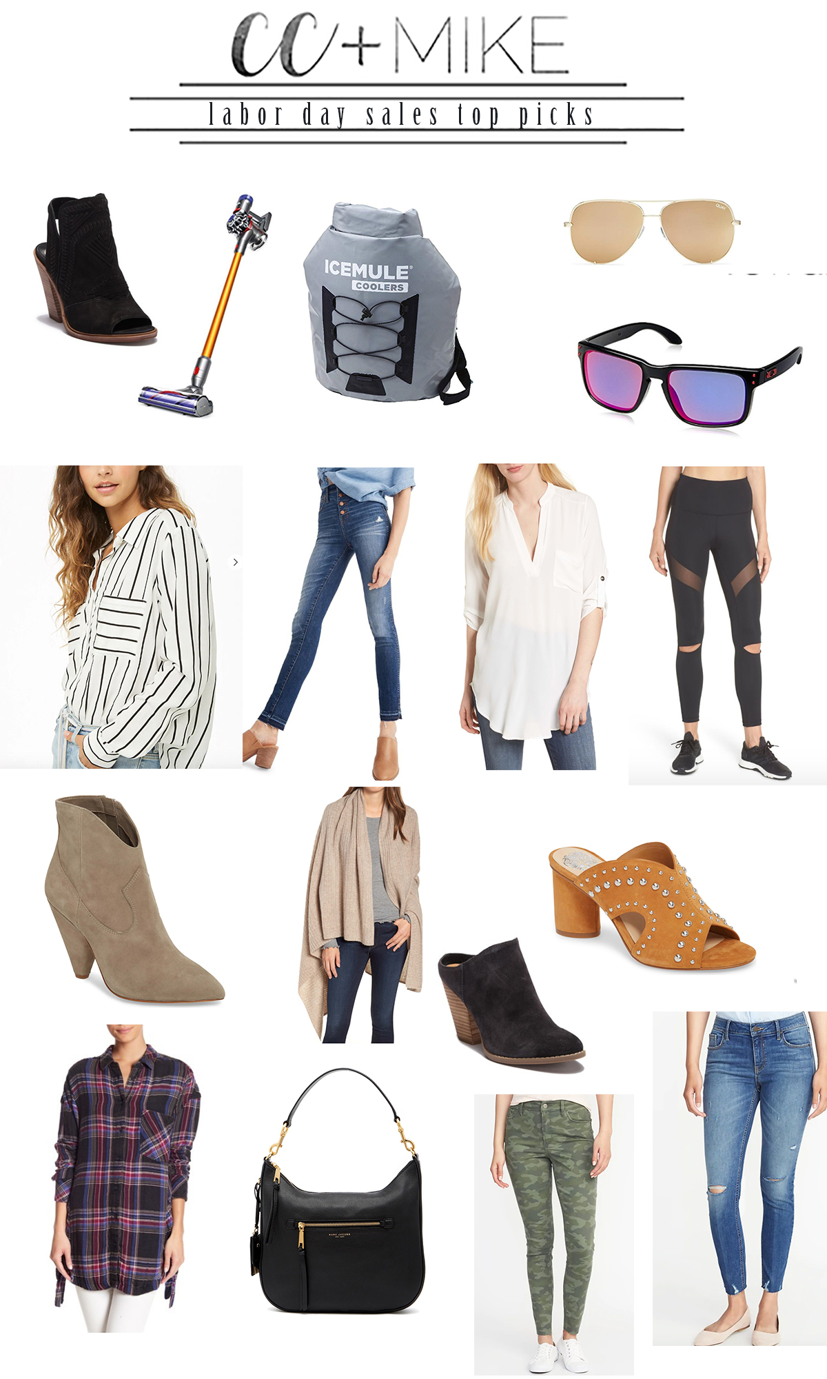 Labor Day Sales Guide 2018 final vince camuto booties quay aviator sunglasses old navy rockstar jeans fashion for moms