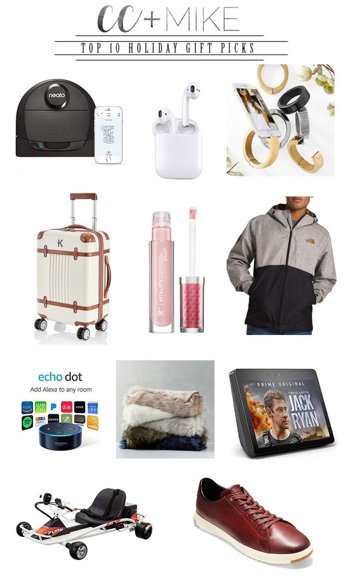 CC and Mike Holiday Gift Guide TOP 10 Holiday GIFTS 2018