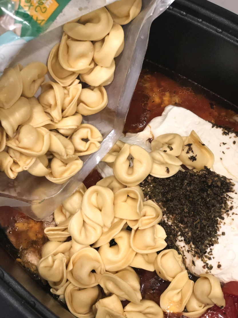 Easy Slow Cooker Italian Sausage Tortellini Recipe