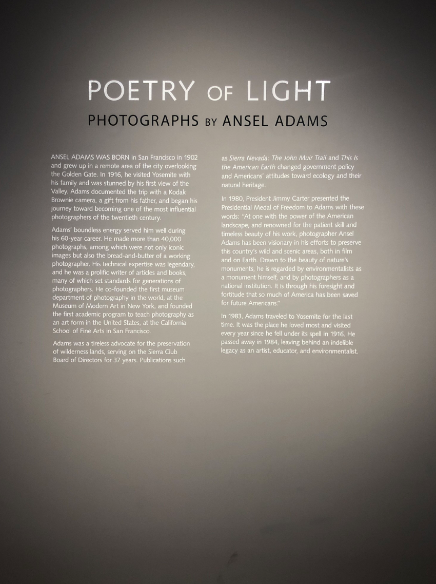 poetry of light photographs by ansel adams wall