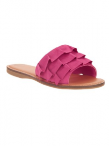 Back to School with Walmart affordable boys and girls back to school clothes pink ruffle wonder nation sandals Walmart