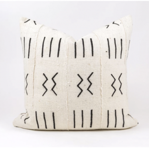 cc and mike the shop mudcloth pillows black and white
