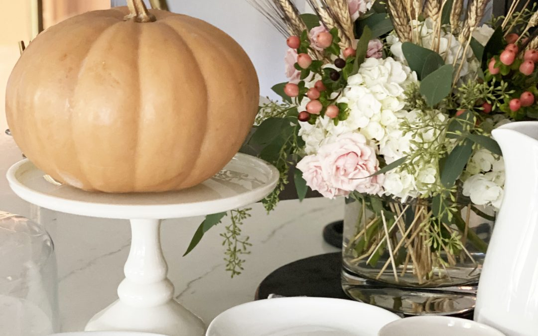 Affordable Fall Front Porch and Tabletop Decor Ideas pumpkins and fall decor black and white tabletop blessed decor