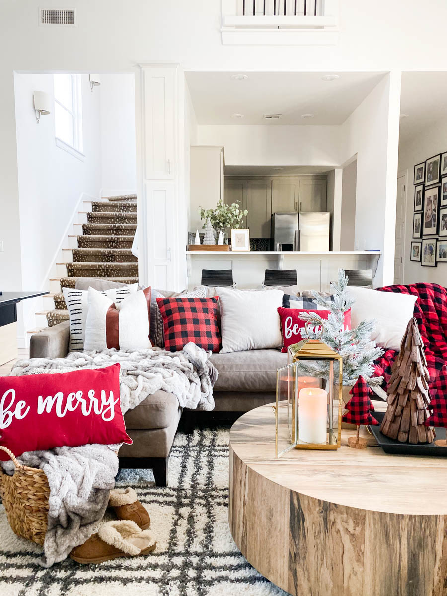 Affordable Buffalo Plaid Holiday Pillows and Decor