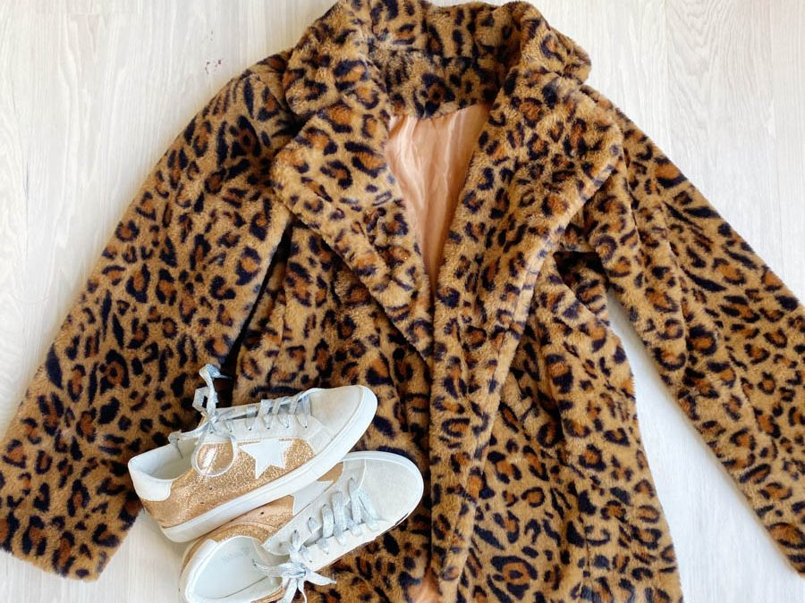 Affordable Holiday Fashion Ideas with Walmart leopard coat