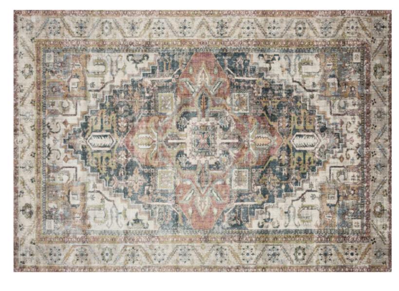 CC and Mike Frisco I Project Reveal Anastasia multi ivory Loloi area rug
