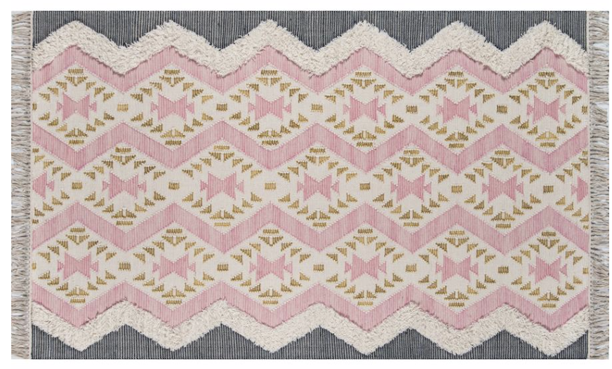 How-to-Update-Your-Rugs-for-Spring pink and gray bohemian rug