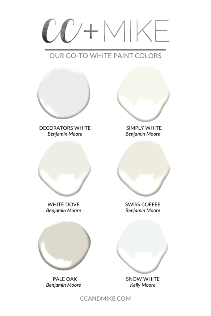 Go-to white paint colors