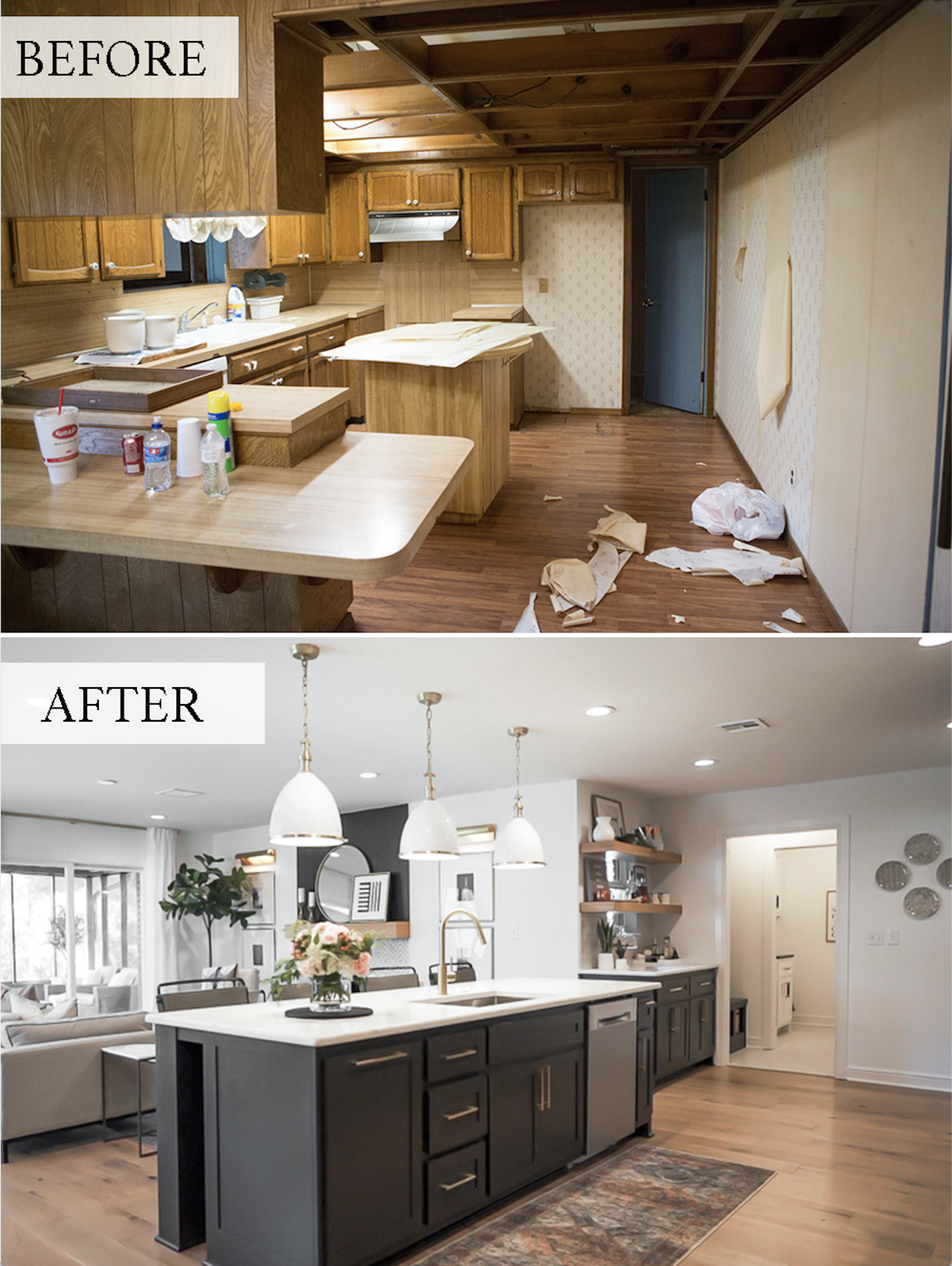 Cc And Mike Modern Navy Cedar Ranch Style Remodel