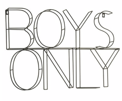 How to Decorate Boys Rooms on a Budget BOYS ONLY wire sign