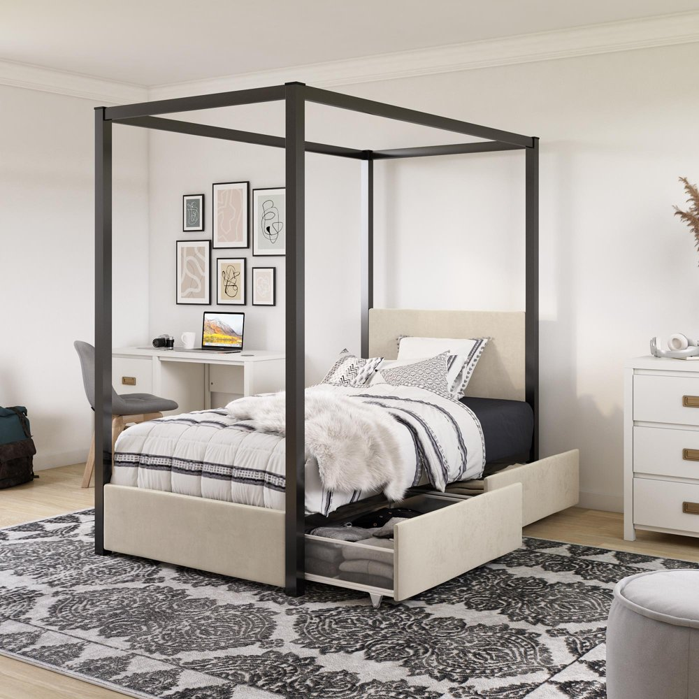 affordable kids beds from walmart little seeds sparrow canopy bed with storage