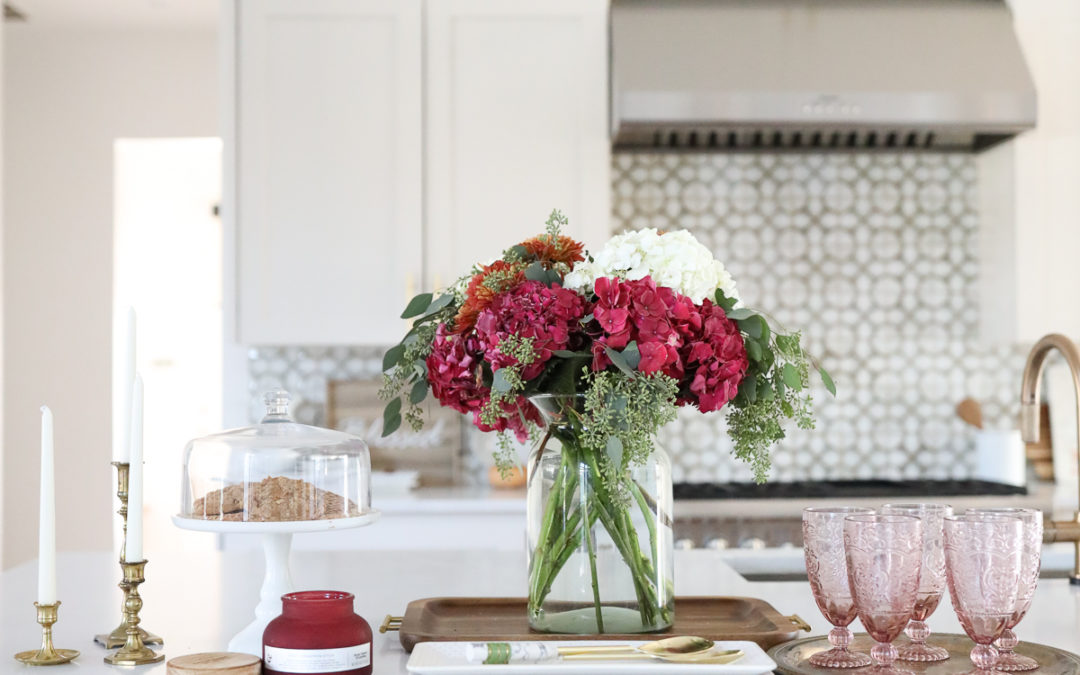 How to Easily Style Kitchen Countertops for Thanksgiving AND Chrstimas-5
