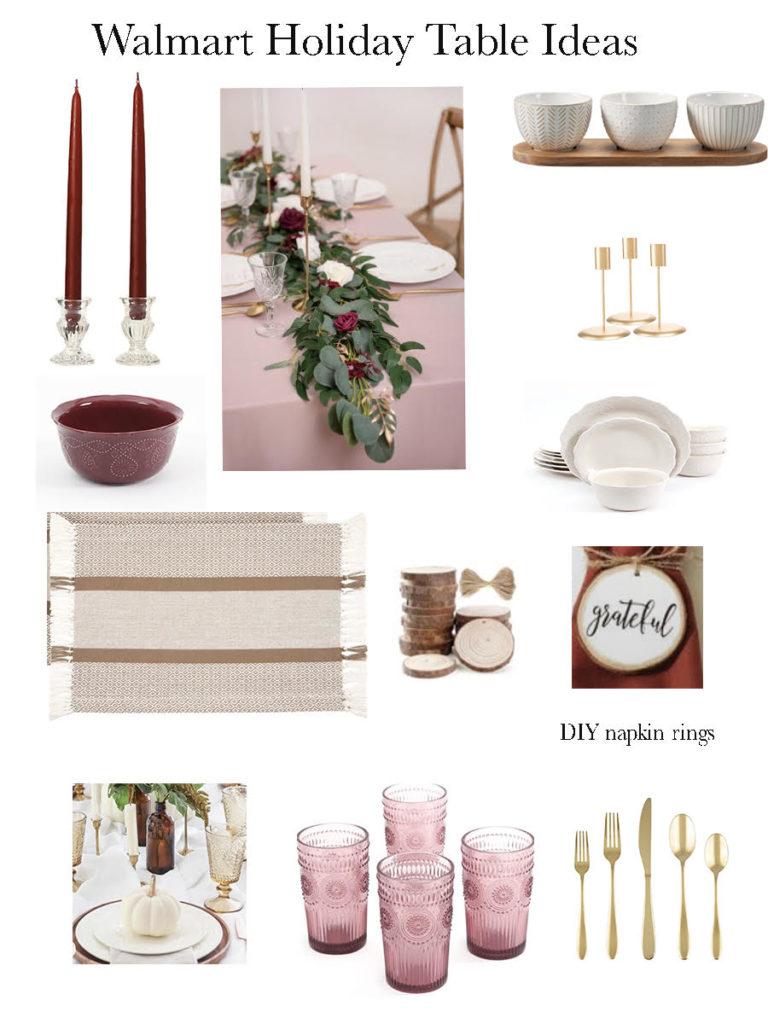 Walmart Holiday Table Ideas