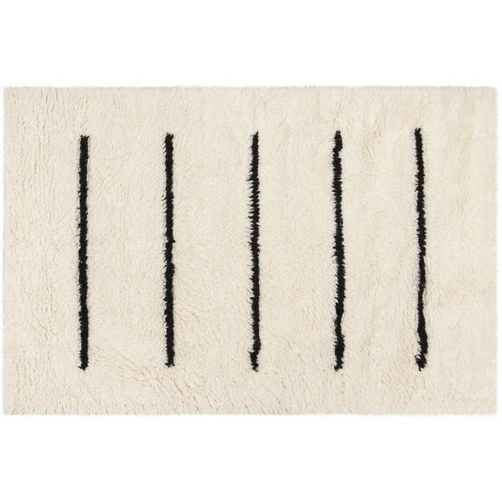IVORY/ BLACK LINE EASTON RUG