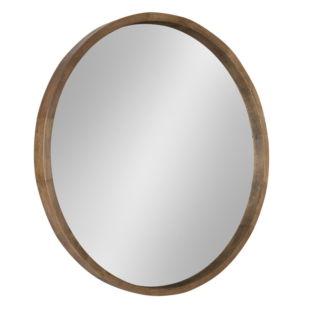 Round wood mirrow