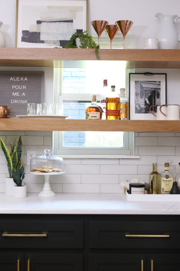 Open Shelving from pottery barn