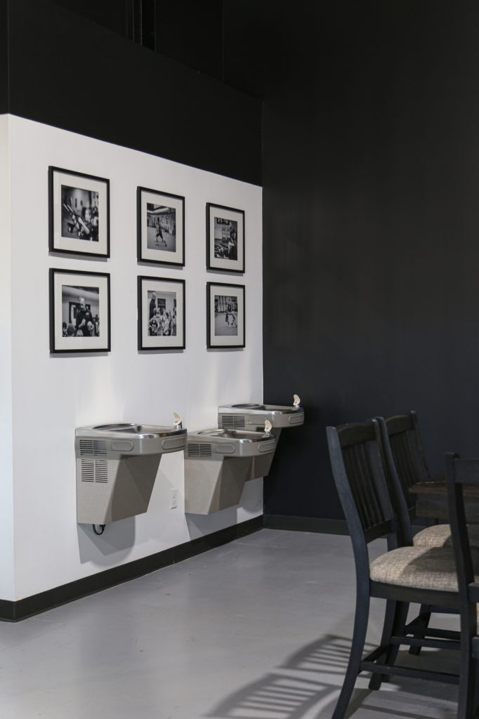 Black and White Gallery Wall at the Sports Armory