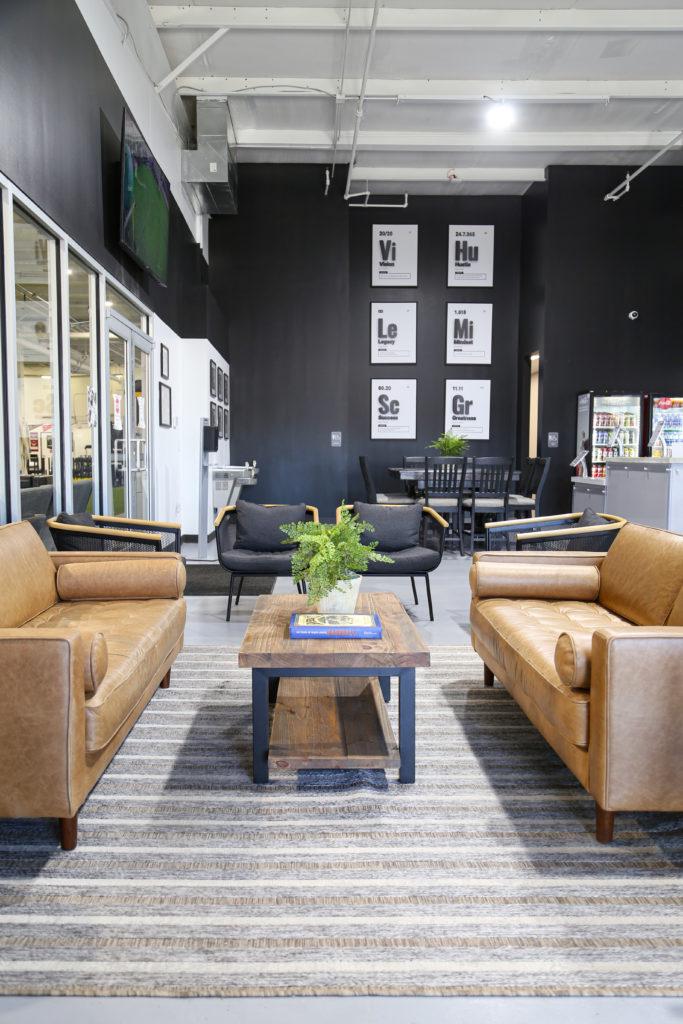 The Sports Armory lounge area